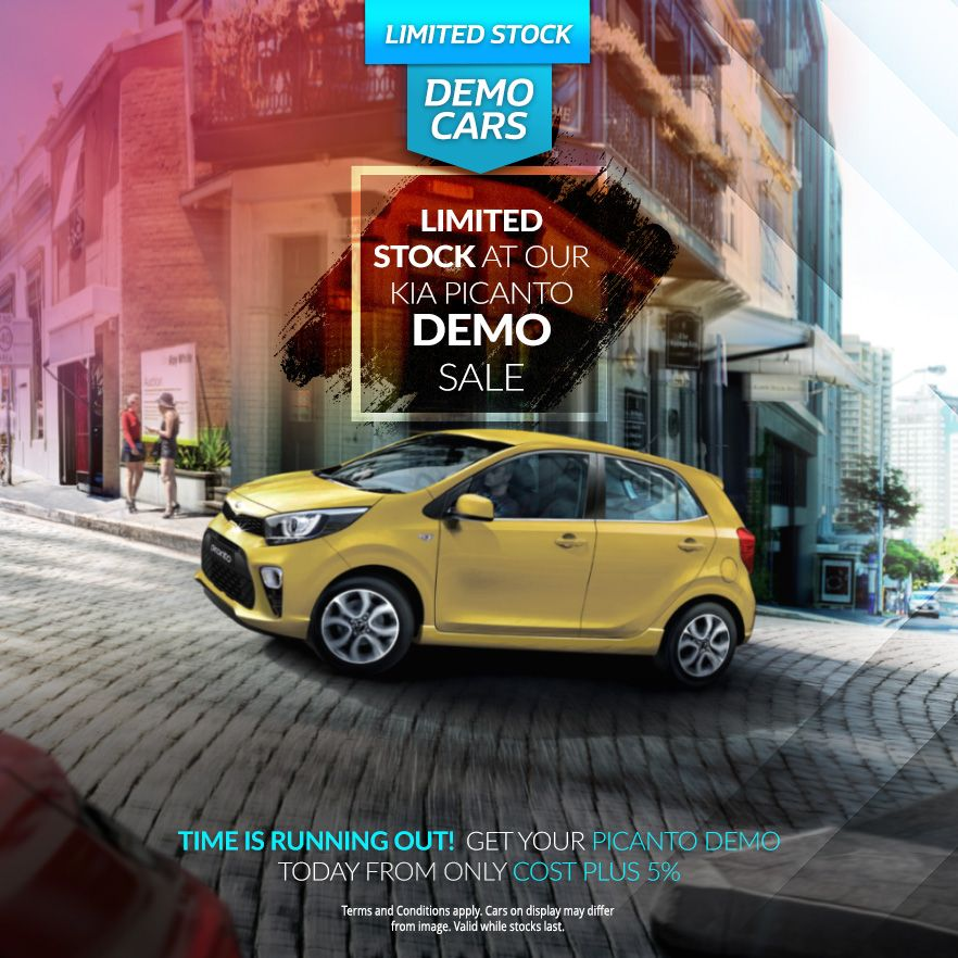 Limited Stock at our Picanto Demo Sale from only Cost + 5%!